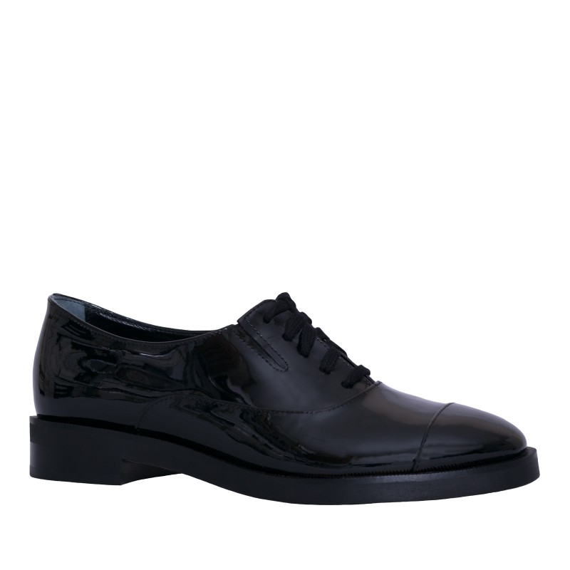 LORETTI Patent leather Carbone oxford shoes