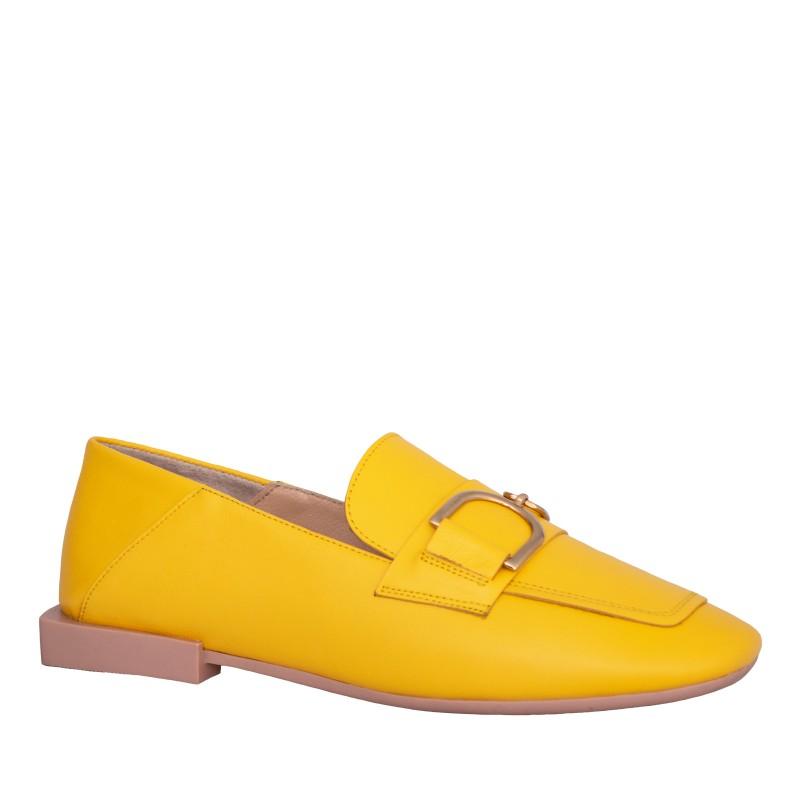 LORETTI Leather Mango moccasins