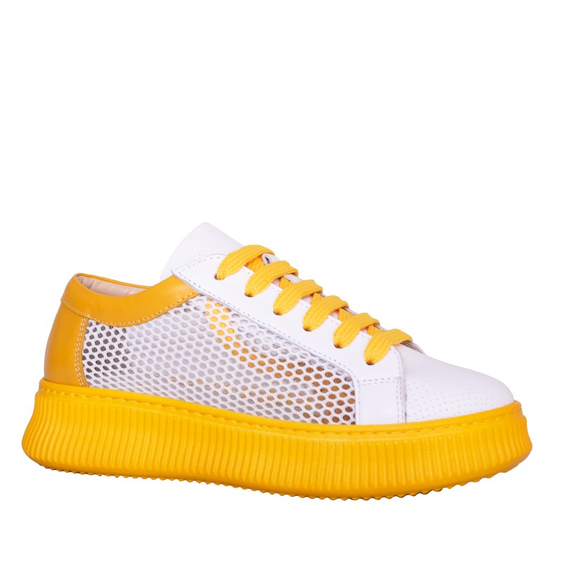 LORETTI Textile and leather Mango thick soled sport shoes