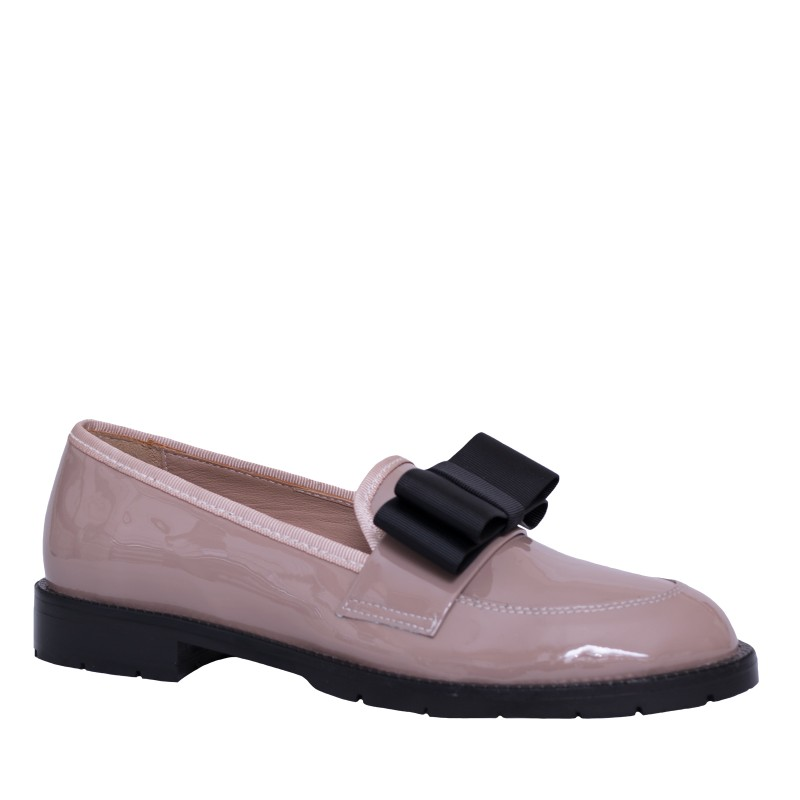 LORETTI Patent leather Cappuccino loafer shoes
