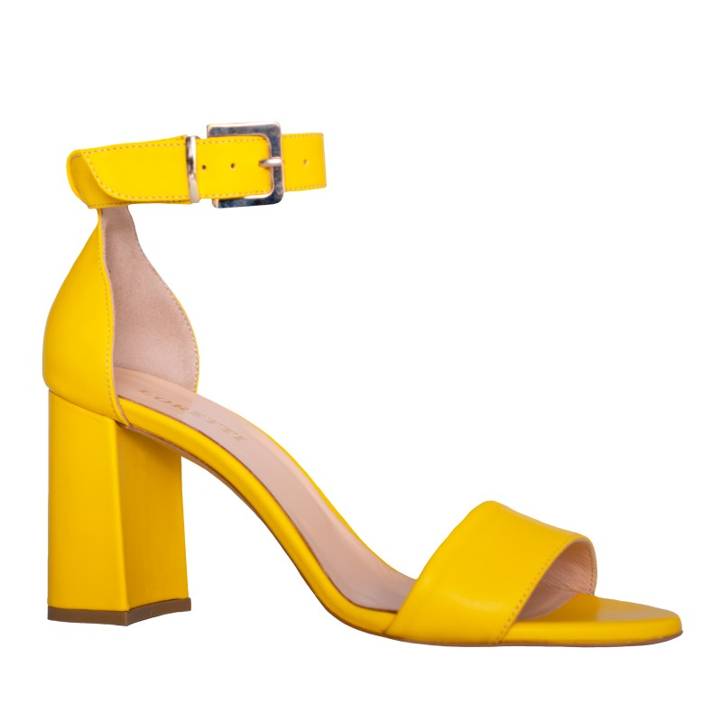 LORETTI Medium heel leather Mango slingbacks