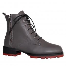 LORETTI Thick soled leather Grafite boots