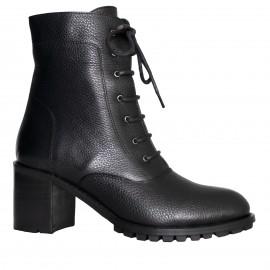 LORETTI Medium heel leather Carbone boots