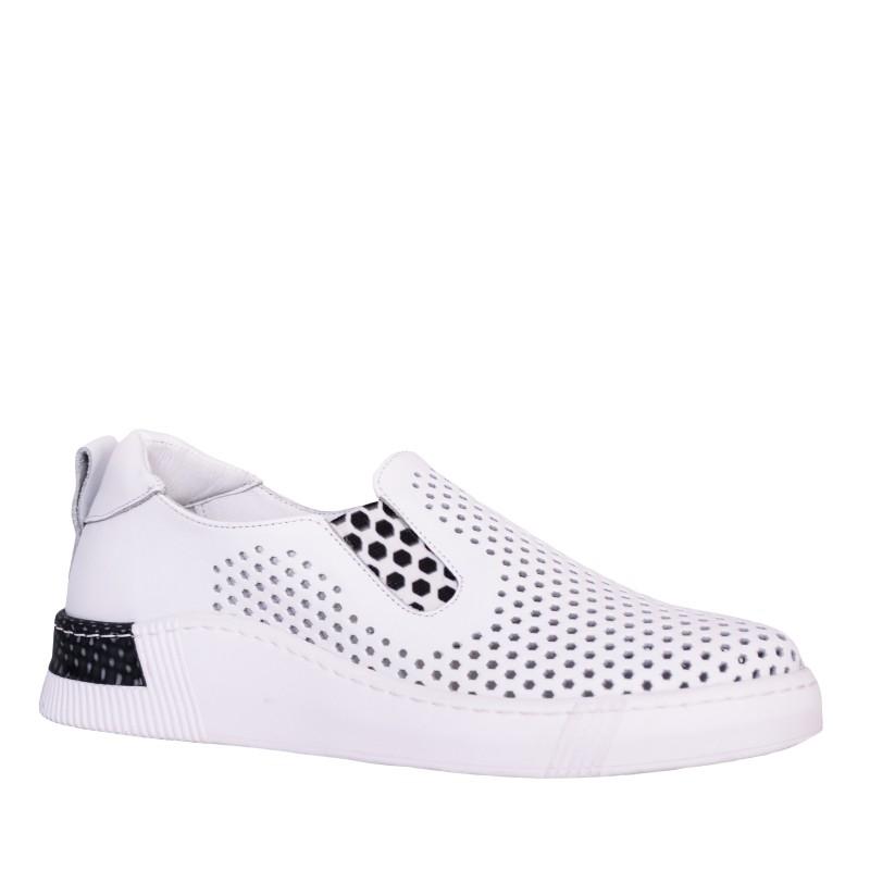 LORETTI White leather Bianco Neve sport shoes