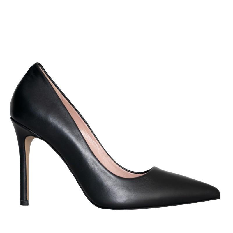 LORETTI High heel leather Carbone pumps
