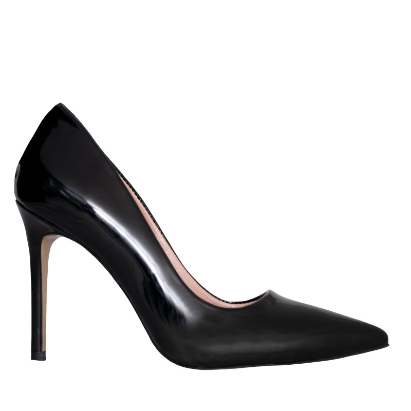 LORETTI High heel patent leather Carbone pumps