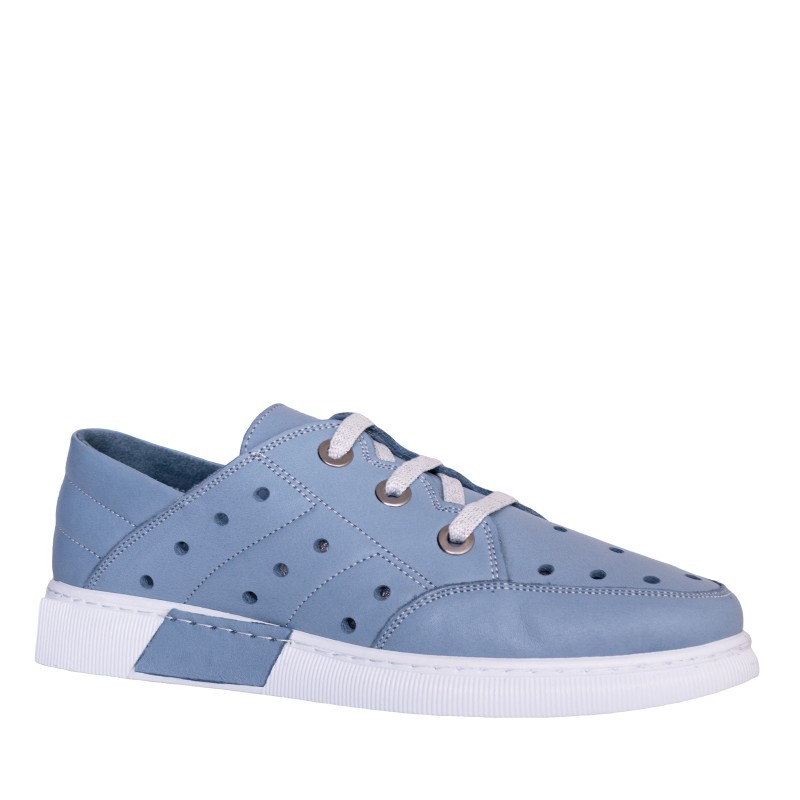 LORETTI Leather Denim sport shoes