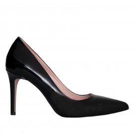LORETTI Medium heel patent leather Carbone pumps