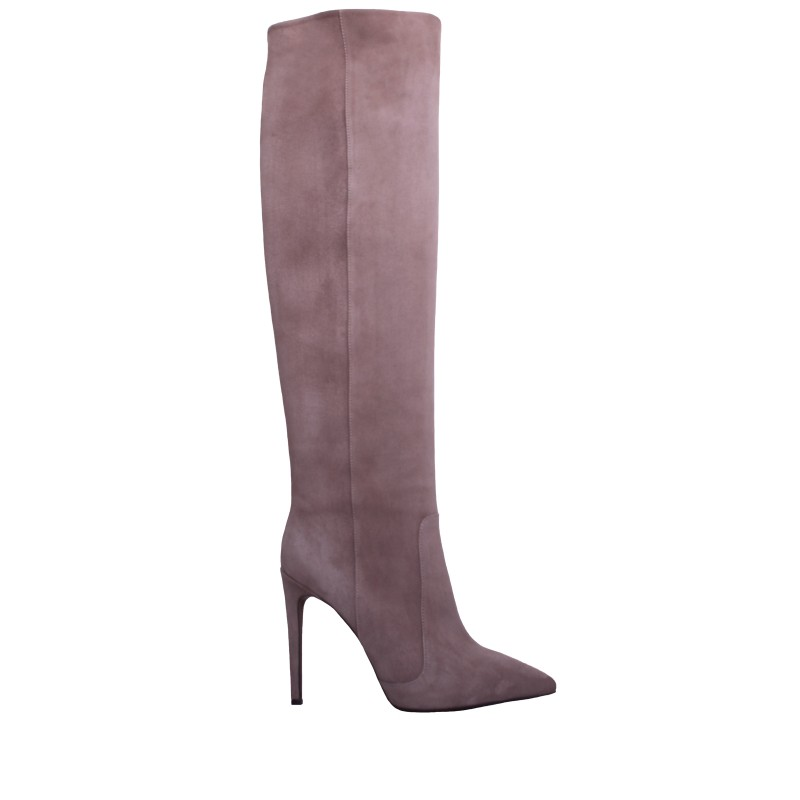 LORETTI High heel suede Cappuccino high boots