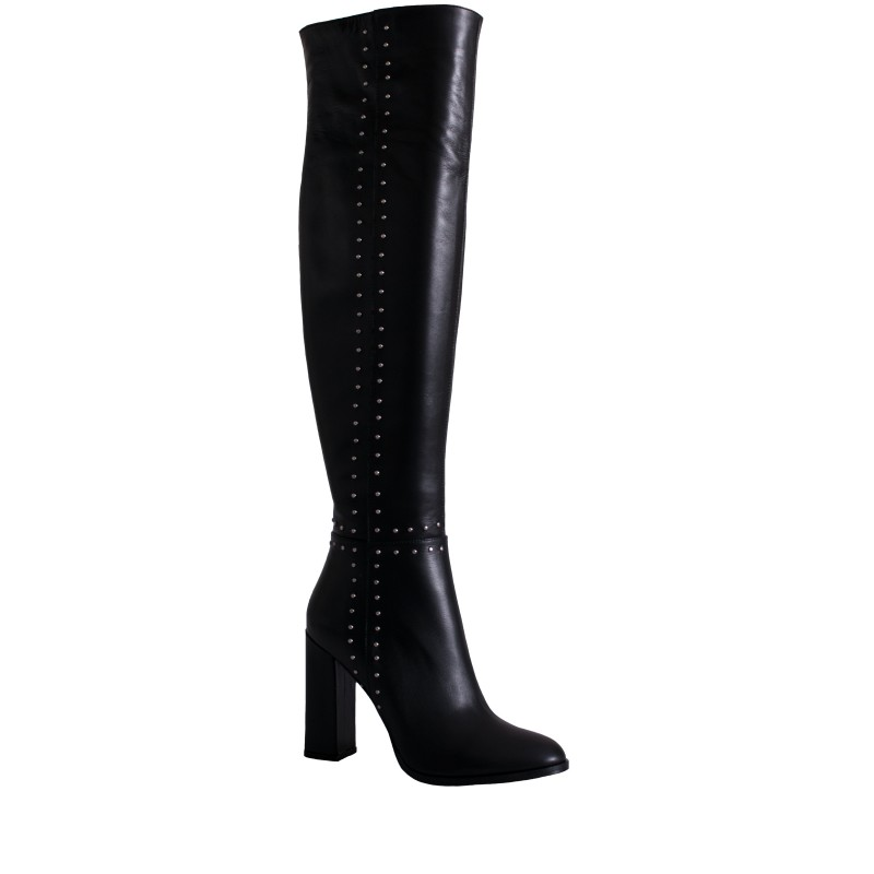 LORETTI High heel leather Carbone over the knee boots