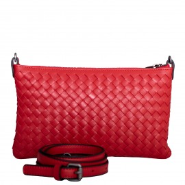 LORETTI Small weaved leather Rosso shoulder bag
