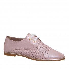 LORETTI Leather Cappuccino Metallizzato oxford shoes