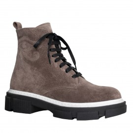 LORETTI Thick soled suede Cappuccino boots
