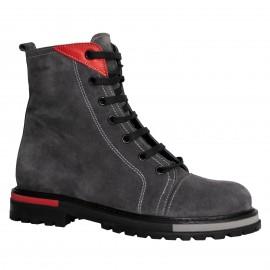LORETTI Thick soled suede Grigio Scuro boots