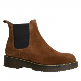 LORETTI Thick soled suede Camel boots