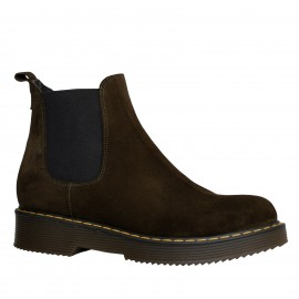 LORETTI Thick soled suede Marrone boots