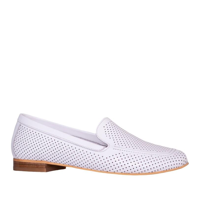 LORETTI Leather White Snow slipper shoes